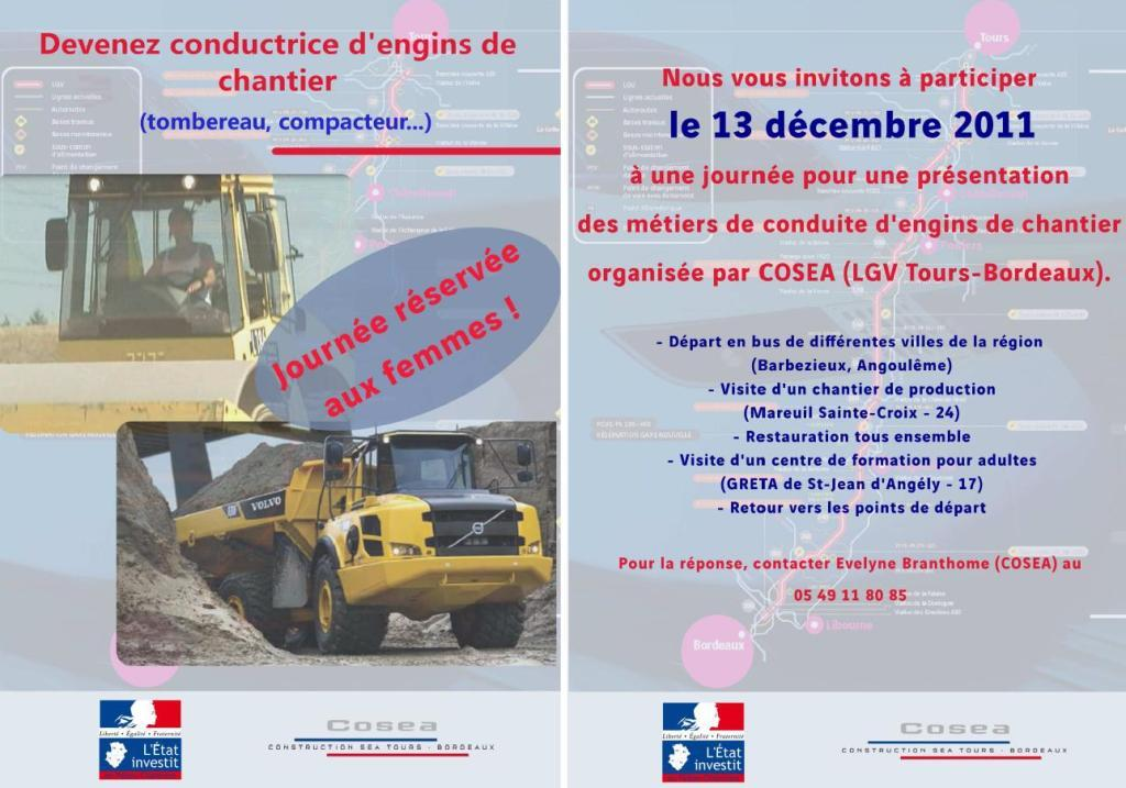 journ u00e9e femmes conductrices d u2019engins de chantier  u00ab lycee
