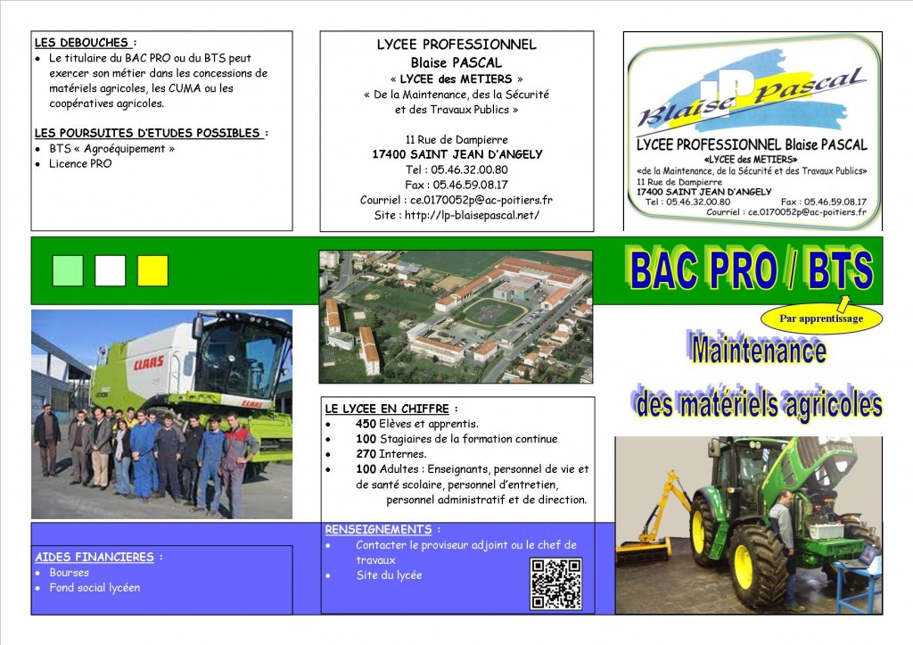 Plaquette Maintenance AGRI