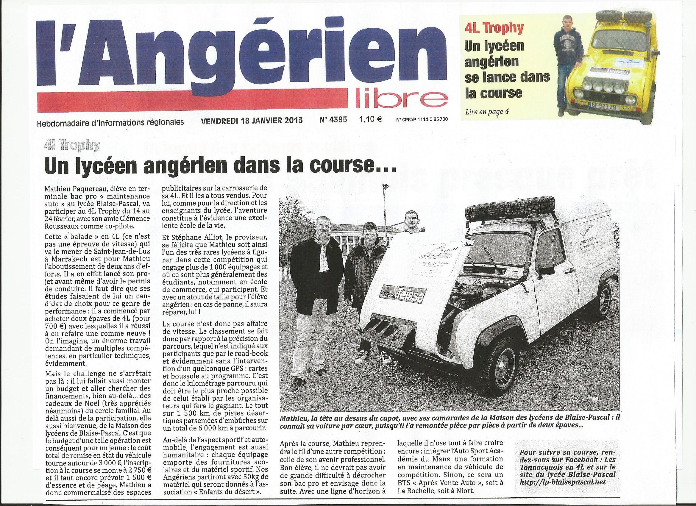 angérien libre 4L trophy