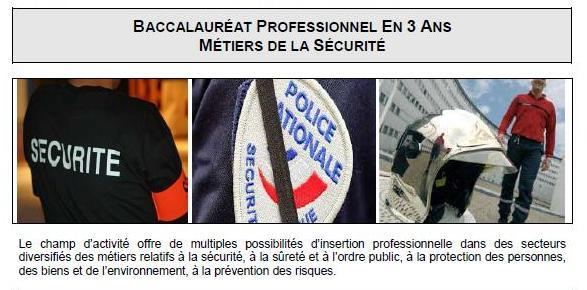 Bac pro securité